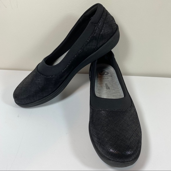 Black Cloudsteppers Ballet Style Flats